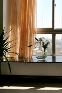 惬意温馨的飘窗也成了主人在客厅闲聊的好地方
