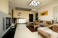 客厅给人一种现代派的典雅风的感觉